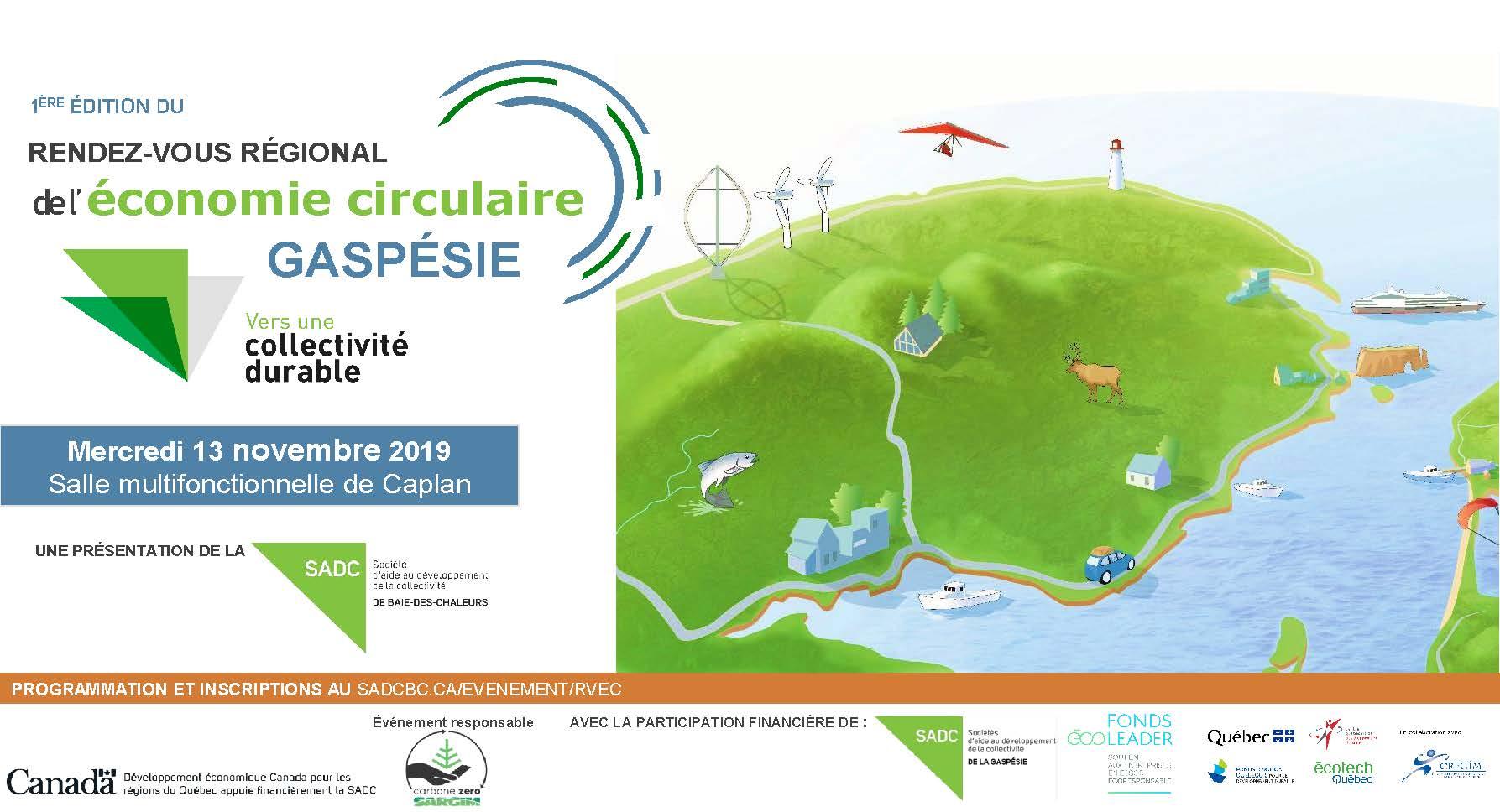 Rendez-vous régional de l'économie circulaire Gaspésie